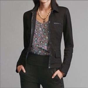 [Cabi] Faux leather trim lightweight jacket
